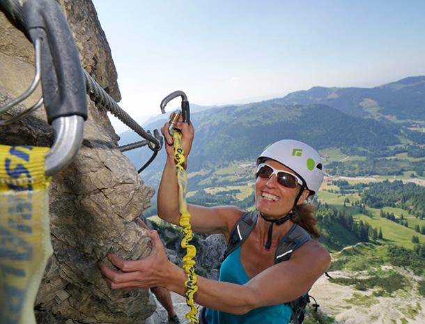 Klettersteig Oberjoch : De salewa klettersteig bad hindelang mit gratwanderung über den