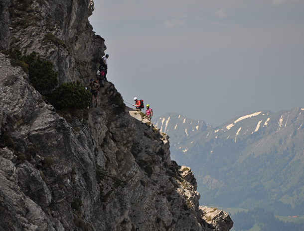 Klettersteig Salewa : Salewa klettersteig in der bergwanderregion oberjoch
