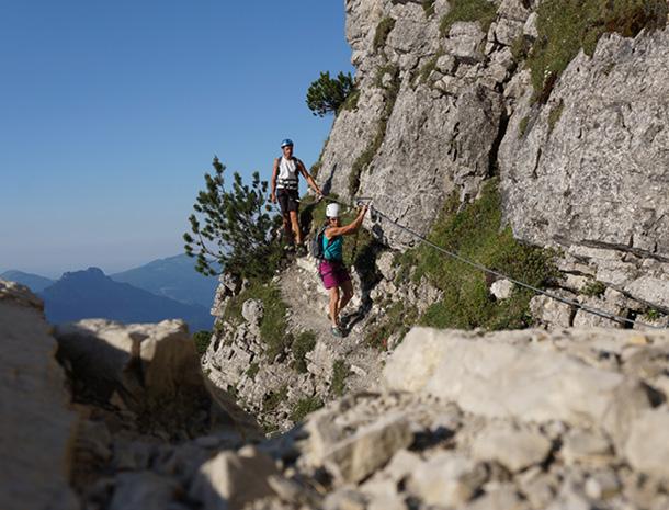 Klettersteig Oberjoch : Salewa klettersteig in der bergwanderregion oberjoch