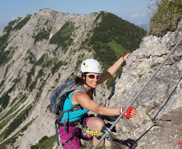 Der Salewa Klettersteig liegt 1876 Meter über Normalnull